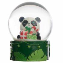 Karácsonyi pandás hógömb
