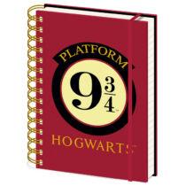 Harry Potter 9 és ¾ vágány A5-ös jegyzetfüzet
