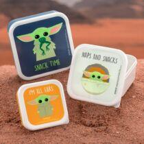 The Mandalorian Baby Yoda ételhordó szett (3 db)