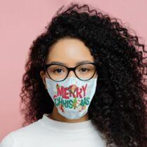 Merry Christmas feliratú nagyméretű arcmaszk