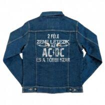 2 féle zene létezik – AC/DC - unisex farmerkabát