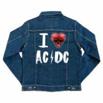 I Love AC/DC - unisex farmerkabát
