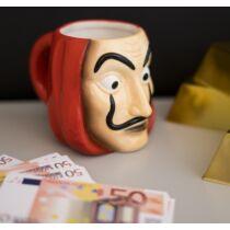 A nagy pénzrablás - maszk 3D bögre