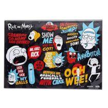 Rick és Morty asztali füzetalátét