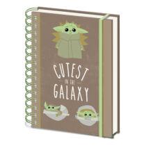 Star Wars - The Mandalorian - Cutest in the Galaxy A5 spirálfüzet