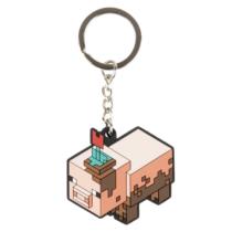 Minecraft Sáros Malac kulcstartó