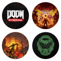 Doom: Eternal prémium poháralátét szett (4 db)