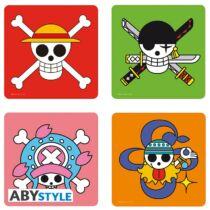 One Piece - Koponyák poháralátét szett (4db)
