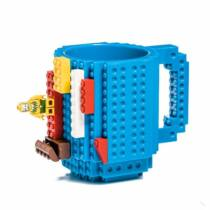 Lego építhető 3D kék bögre