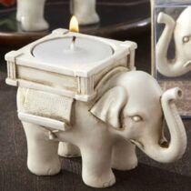 Szerencsehozó elefánt teamécsestartó