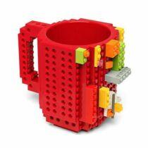 Lego építhető 3D piros bögre