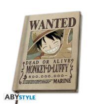 One Piece - Wanter Luffy jegyzetfüzet