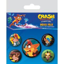 Crash Bandicoot 4 kitűző szett