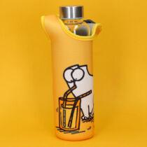 Simon Macskája üveg vizespalack - levehető anyag borítással