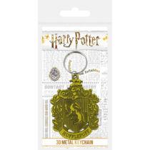Harry Potter- Hugrabug 3D fém kulcstartó