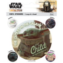 Star Wars: The Mandalorian - Baby Yoda Matrica szett