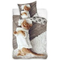 Alvó cicás ágyneműhuzat