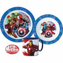 Marvel - Bosszúállók étkészlet szett bögrével