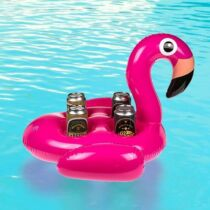 Flamingó felfújható négyes italtartó