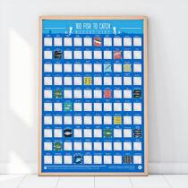 Kaparós poszter - 100 hal amit ki kell fognod bakancslista horgászoknak
