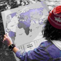Kaparós térkép a világ országainak zászlóival