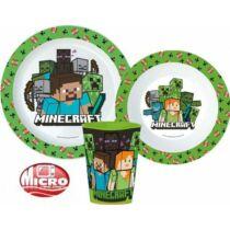 Minecraft Karakterek műanyag étkészlet