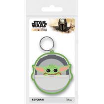 Star Wars - The Mandalorian - Baby Yoda gumi kulcstartó