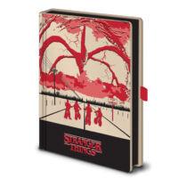 Stranger Things - Mind Flayer Világítós prémium jegyzetfüzet, A5