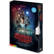 Stranger Things S01 VHS kazetta formájú jegyzetfüzet