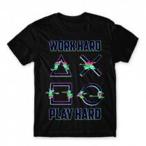 Playstation - Work Hard férfi póló