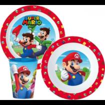 Super Mario poharas műanyag étkészlet