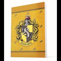 Harry Potter - Hugrabug A4 spirálfüzet  vonalas