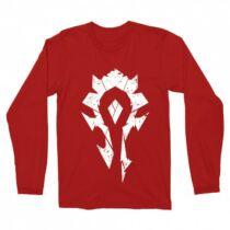 World of Warcraft -Horde logó férfi hosszúujjú póló