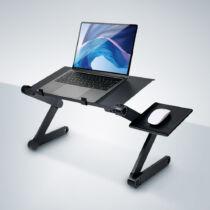 Összecsukható laptop támasztó asztal egérpaddal