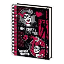 DC Comics - Harley Quinn spirál jegyzetfüzet