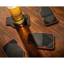 Autó szőnyeg formájú szilikon poháralátét szett (4db)