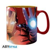 Marvel - The Armored Avenger nagyméretű fém fóliás bögre