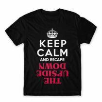 Keep Calm Upside Down férfi póló