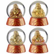 Csillogó szerencsehozó Buddha hógömb