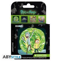 Rick és Morty poháralátét szett (4 db)