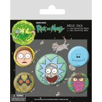 Rick és Morty kitűzőszett