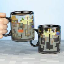 Minecraft hőre változó nagyméretű bögre