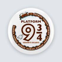 Harry Potter -  9 és ¾ vágány kitűző