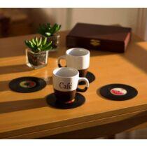 Bakelit lemez poháralátét szett (4 db)