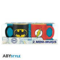 DC Comics - Batman és Flash presszó kávé bögre szett (2db)