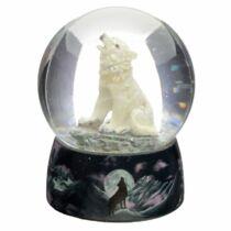 Észak őrzője farkas hógömb