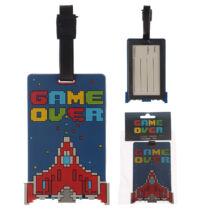 Game Over bőrönd címke űrhajó