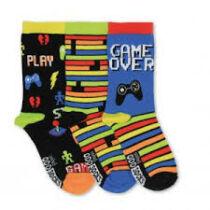 Game Over 3 darabos gyerek zokni szett