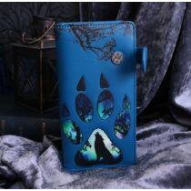 Farkas lábnyomok kék nagy alakú pénztárca