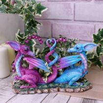 Kis szerelmes sárkányok szobor